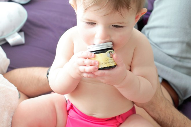 Laurel with Earth Mama Organics Diaper balm
