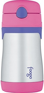 foogo thermos straw cup bottle insulated stainless steel